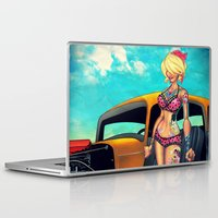 rockabilly Laptop & iPad Skins featuring Rockabilly babe by Quetzal Revolver