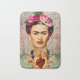 FRIDA KAHLO SACRED HEART Bath Mat