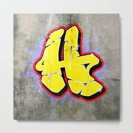 H - Graffiti letter (Wild Style) Metal Print