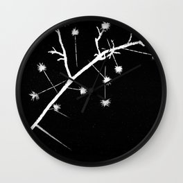 Twigs and Thorns Photogram Wall Clock