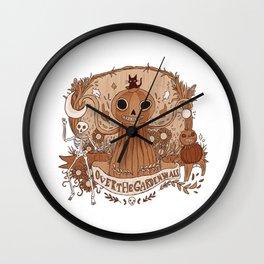 Halloweeny gardens Wall Clock