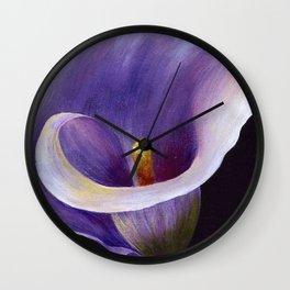 Lavender Calla Lily Wall Clock
