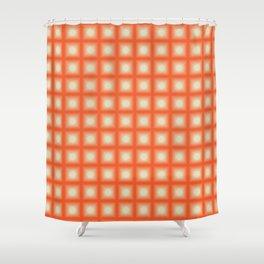 ORANGE CUBES Shower Curtain