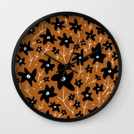 Mod Flowers Wall Clock