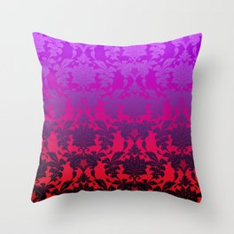 Ombre Damask2 Throw Pillow
