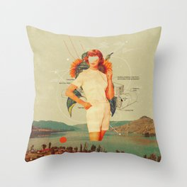 SunflowerMiss Throw Pillow