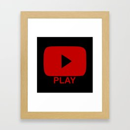 Play Button Framed Art Print