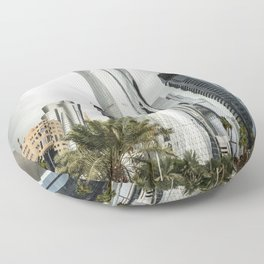 doha skyline Floor Pillow