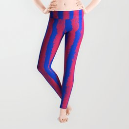 pink no blue bounding stripes 2 Leggings
