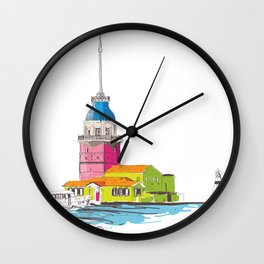 Maiden's Tower, Istanbul Wall Clock
