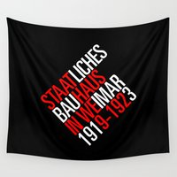 bauhaus Wall Tapestries featuring Staatliches Bauhaus by THE USUAL DESIGNERS