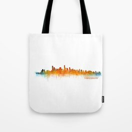 Vancouver Canada City Skyline Hq v02 Tote Bag