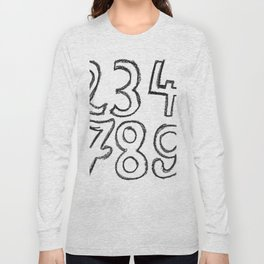 crayon numbers Long Sleeve T-shirt