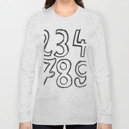 crayon numbers Long Sleeve T-shirt