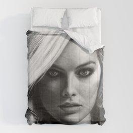 Margot Robbie Pencil Sketch Comforters