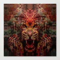 jaguar Canvas Prints featuring Jaguar by Zandonai