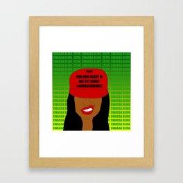 Jamaican Rude Girl Framed Art Print