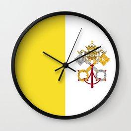 Vatican City Holy See flag emblem Wall Clock