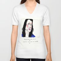 notorious V-neck T-shirts featuring Notorious W.I.S.E.A.U by withapencilinhand