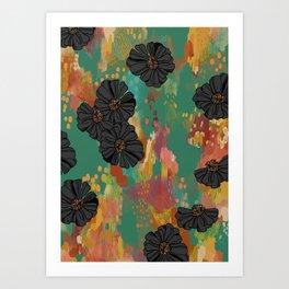 Black Zinnia Art Print
