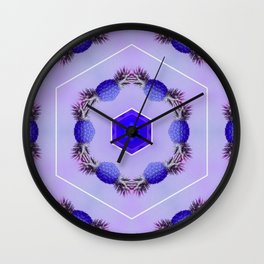 blueberry pineapples Wall Clock