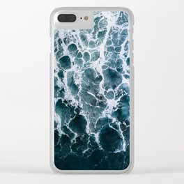 Minimalistic Veins in a Wave  - Seascape Photography Clear iPhone Case