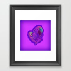Lee's Purple Feather Framed Art Print