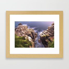 View From The Minack Theatre, Porthcurno, Cornwall, England, United Kingdom Framed Art Print