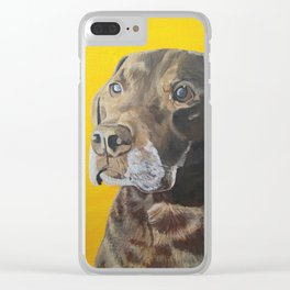 Chocolate Lab Clear iPhone Case