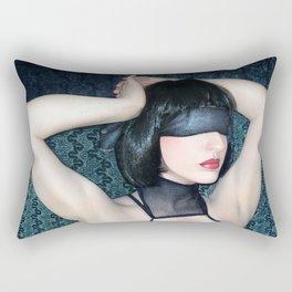 My Blind Reality - Self Portrait Rectangular Pillow
