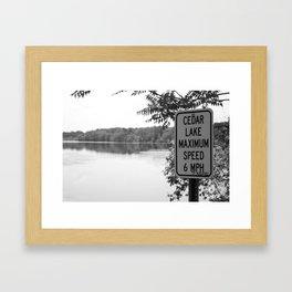 Cedar Lake Framed Art Print