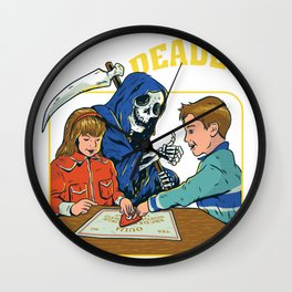 Grim Reaper - Halloween Design - Deadly Games Wall Clock