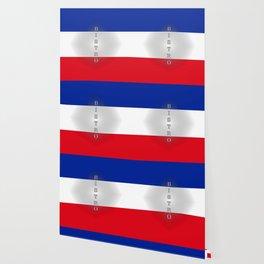 Tricolore Bistro Wallpaper