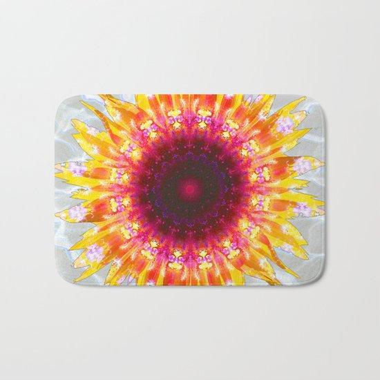 sunflower happiness Bath Mat
