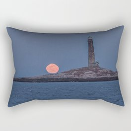 North Tower Blue Moon Rise Rectangular Pillow