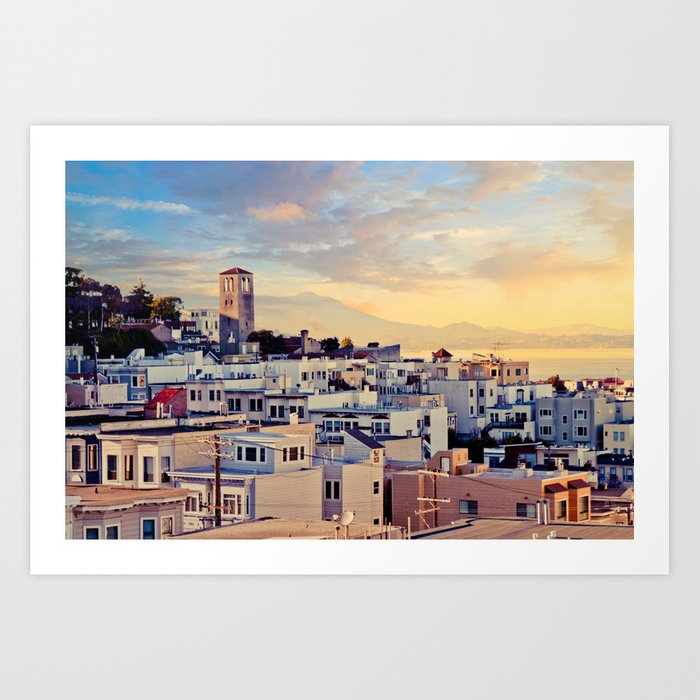 San Francisco North Beach Sunset Fine Art Print  • Travel Photography • Wall Art Art Print