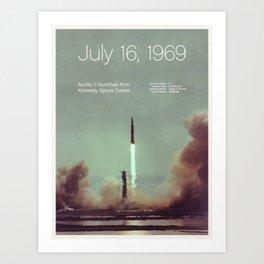 Creative History – July 16, 1969 Art Print