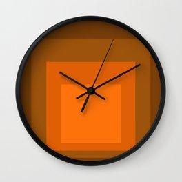 Block Colors - Orange Wall Clock