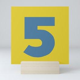 Number 5 Mini Art Print