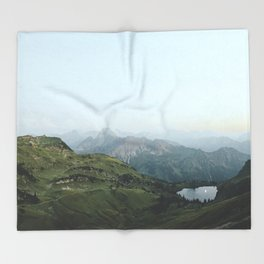 Abyssal landscape photography Throw Blanket