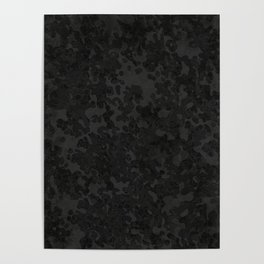 Charcoal Gray Hybrid Camo Pattern Poster