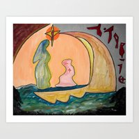 Art Print featuring The Egyptian Journey by Dartizen