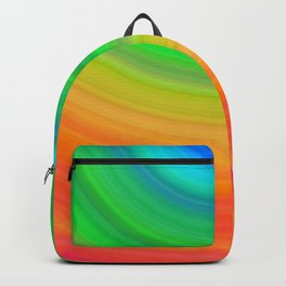 Rainbow Smile Colored Circles Summer Pattern Backpack