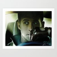 ryan gosling Art Prints featuring Ryan Gosling - Drive by Helena McGill