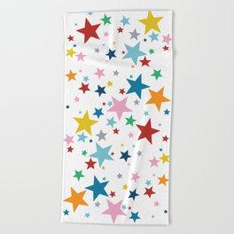 Stars Small Beach Towel