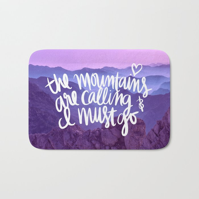Mountains Are Calling Bath Mat