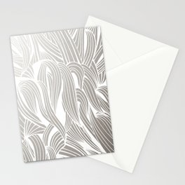 Silver & White Stationery Cards