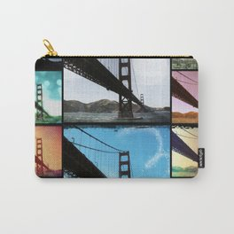 Golden Gate Bridge colorful Photo Collage Carry-All Pouch