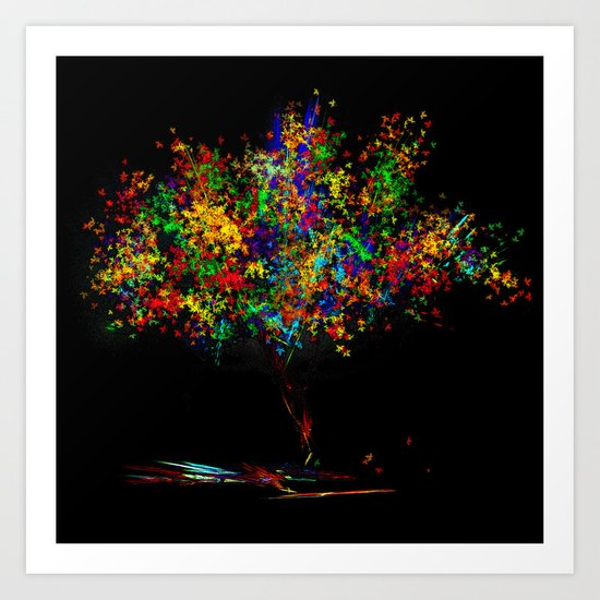 The Most Colorful Tree of the World Art Print