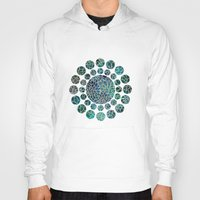 floral Hoodies featuring Floral Abstract 4 by Klara Acel